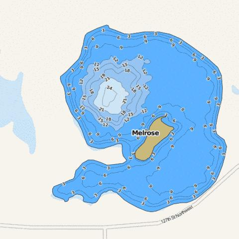 Melrose Fishing Map - i-Boating App