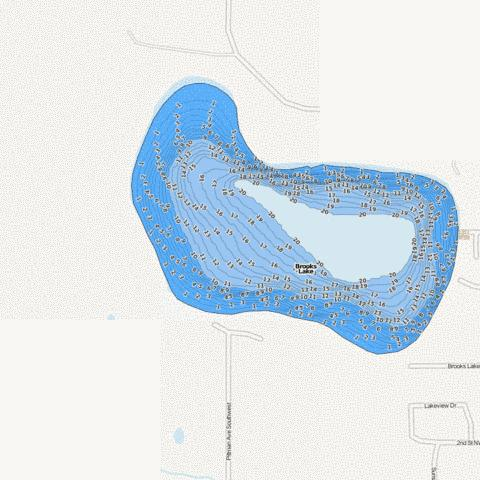 Brooks Fishing Map - i-Boating App