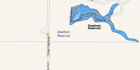 Dearborn Lake Fishing Map - i-Boating App