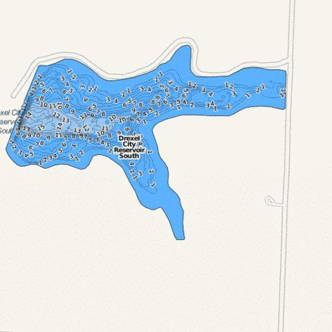 Drexel Lake #2 ( Map : US_MO_00763115) | Nautical Charts App on