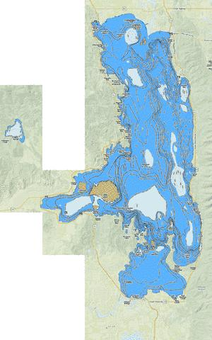 Flathead Lake Fishing Map Us Mt 00783514 Nautical