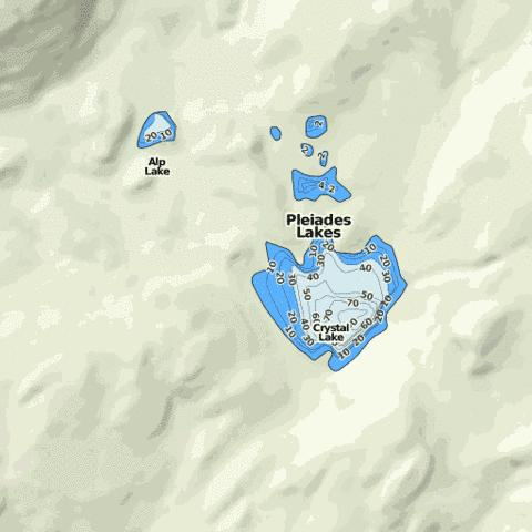 Crystal lake fishing map us mt 00794055 nautical for Crystal lake fishing