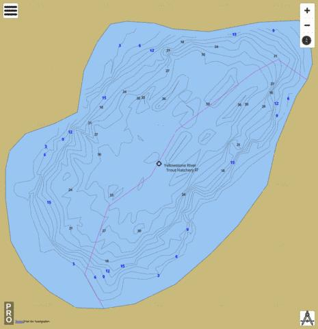 Twin Lake (Upper) Fishing Map - i-Boating App