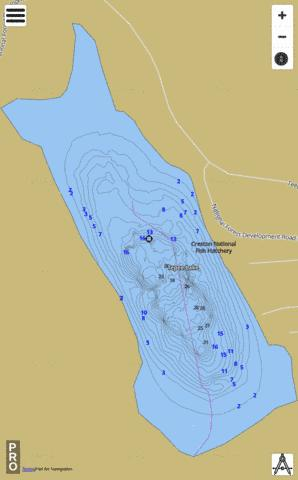 Tepee Lake Fishing Map - i-Boating App