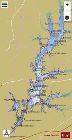 B Everett Jordan Lake Fishing Map - i-Boating App