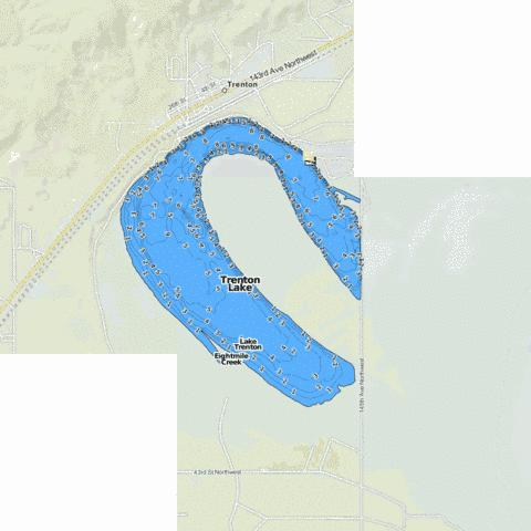 Trenton Lake Fishing Map - i-Boating App