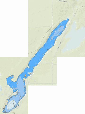 Smishek Lake Fishing Map - i-Boating App