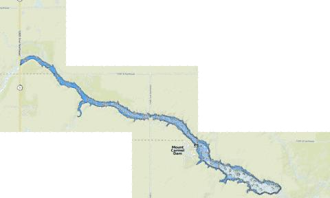 Mount Carmel Dam Fishing Map - i-Boating App