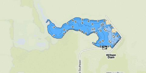 Wilson Dam Fishing Map - i-Boating App