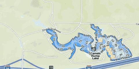 Camels Hump Lake Fishing Map - i-Boating App