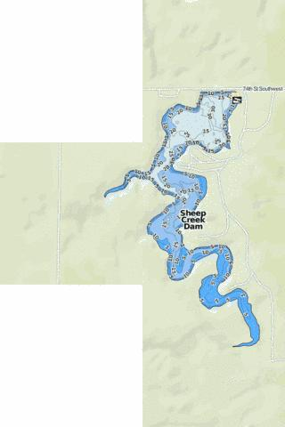 Sheep Creek Dam Fishing Map - i-Boating App