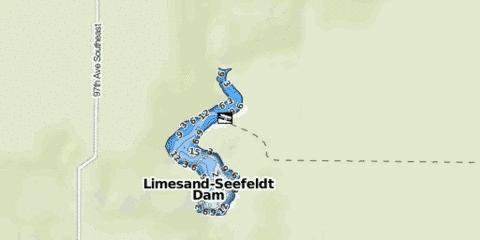 Limesand-Seefeldt Dam Fishing Map - i-Boating App