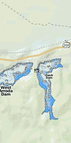 East Arroda Dam Fishing Map - i-Boating App
