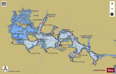 Devils Lake Fishing Map USND Nautical Charts App - North dakota in usa map