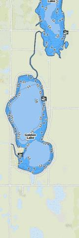 South Golden Lake Fishing Map - i-Boating App