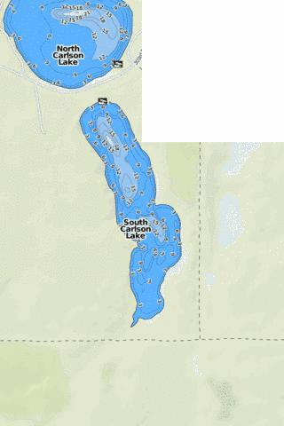 South Carlson Lake Fishing Map - i-Boating App