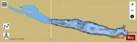 Goose Lake Wells Fishing Map I Boating App