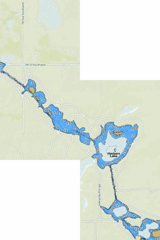 Heckers Lake Fishing Map - i-Boating App