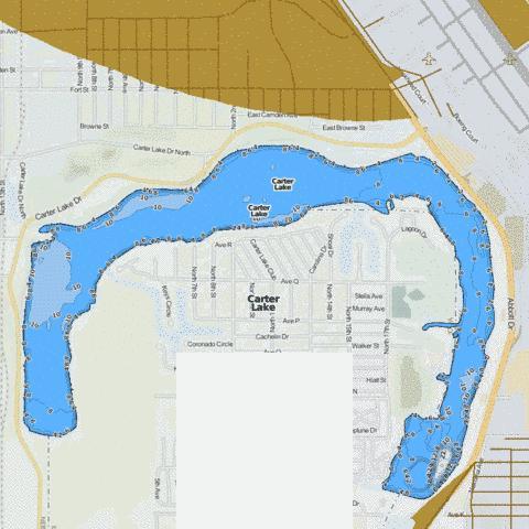 Carter Lake Fishing Map Nautical