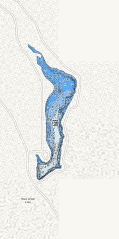 Rock Creek Lake Fishing Map - i-Boating App