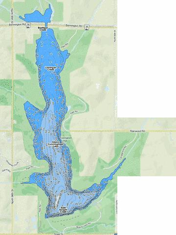 Glenn Cunningham Lake Fishing Map USNE01769653 Nautical