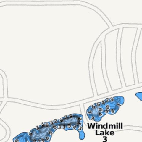 Windmill Lake 3 Fishing Map - i-Boating App