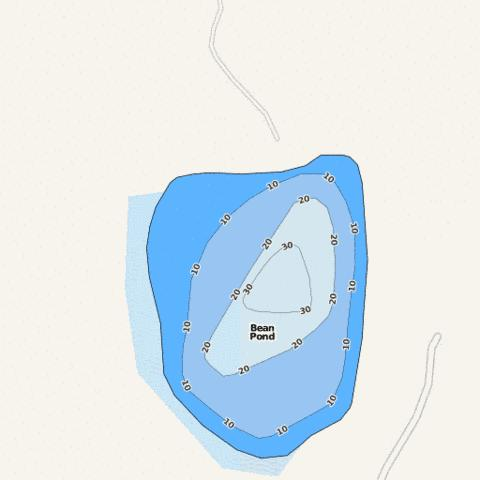 Bean Pond Fishing Map - i-Boating App