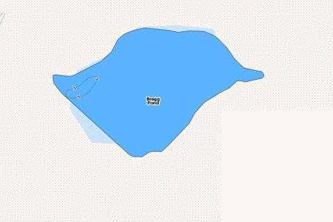 Bragg Pond Fishing Map - i-Boating App