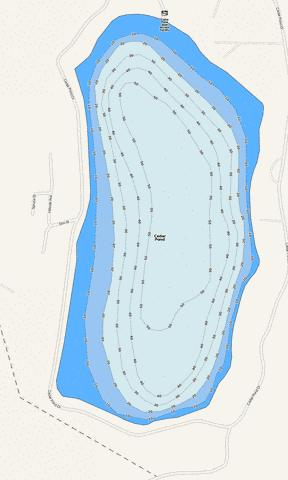 Cedar Pond Fishing Map - i-Boating App