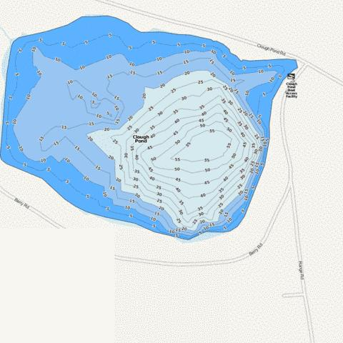 Clough Pond Fishing Map - i-Boating App