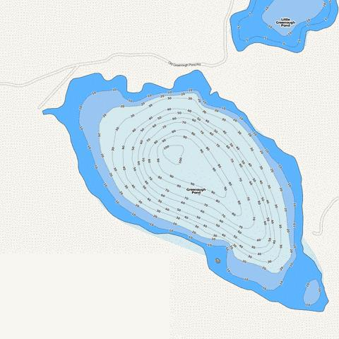 Greenough Pond Fishing Map - i-Boating App