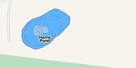 Harris Pond Fishing Map - i-Boating App