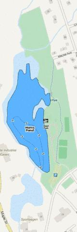 Horns Pond Fishing Map - i-Boating App