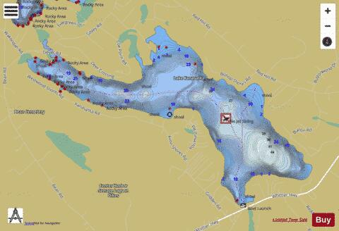 Lake Kanasatka Fishing Map - i-Boating App