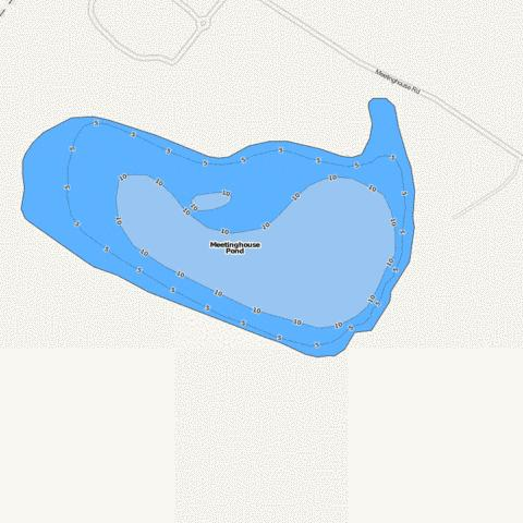 Meetinghouse Pond Fishing Map - i-Boating App