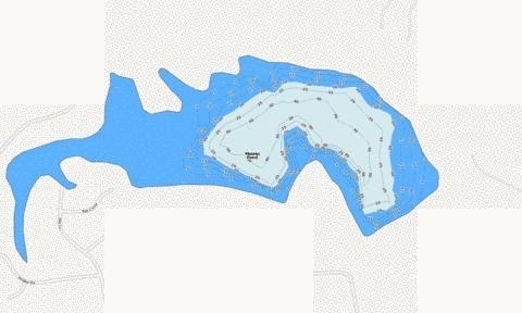 Moores Pond Fishing Map - i-Boating App