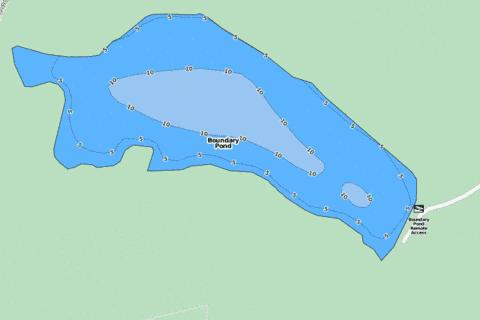Boundary Pond Fishing Map - i-Boating App
