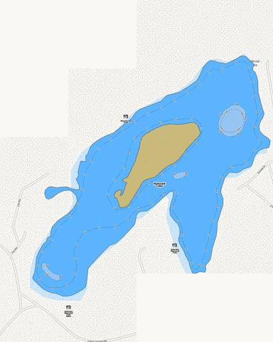 Naticook Lake Fishing Map - i-Boating App