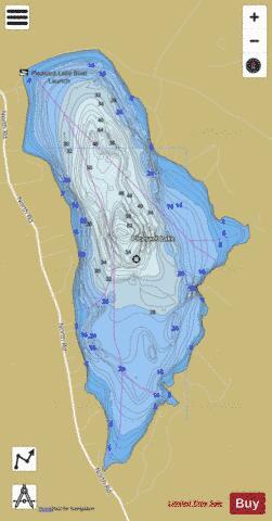 lake pleasant depth map Pleasant Lake Fishing Map Us Nh 00869253 Nautical Charts App lake pleasant depth map