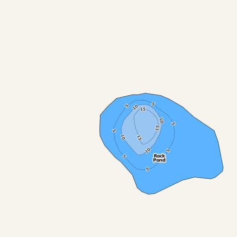 Rock Pond Fishing Map - i-Boating App