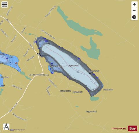 Rust pond fishing map us nh 00869653 nautical charts app for Pond depth for fish