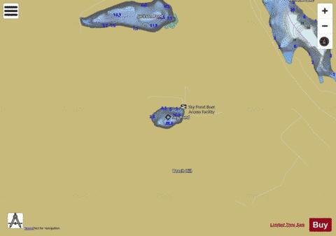 Sky Pond Fishing Map - i-Boating App