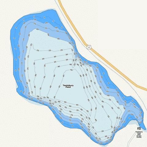 Tewksbury pond fishing map us nh 00870363 nautical for Pond depth for fish