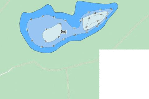 Trout Pond Fishing Map - i-Boating App
