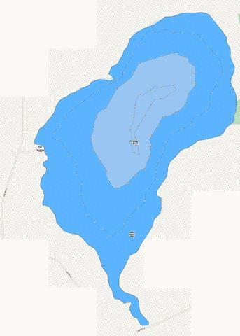 Turtle Pond Fishing Map - i-Boating App