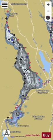 Lake Winnisquam Fishing Map - i-Boating App