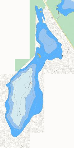 Lake Armington Fishing Map - i-Boating App