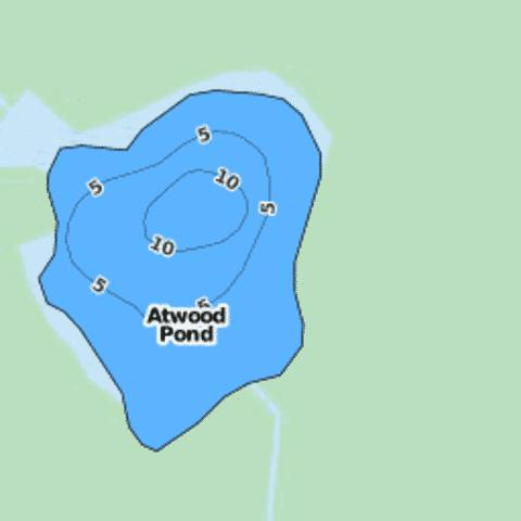 Atwood Pond Fishing Map - i-Boating App