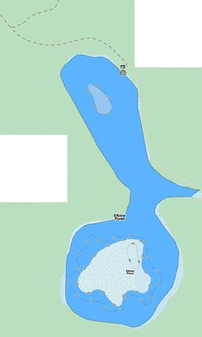 Elbow Pond Fishing Map - i-Boating App