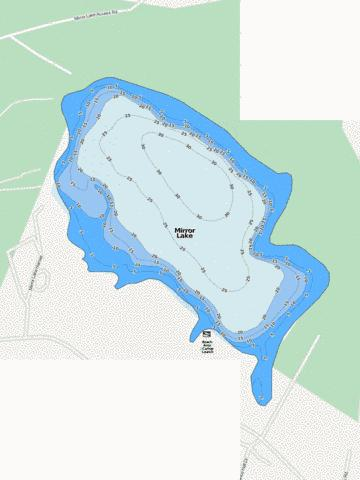 Mirror Lake Fishing Map - i-Boating App